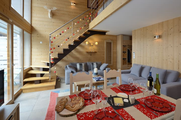Bel appartement de standing à 2mns du centre ville - Chamonix-Mont-Blanc - Appartement en résidence