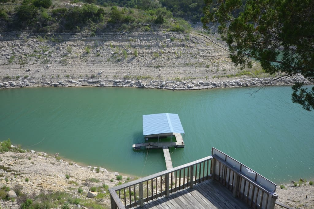 Boat dock, great for getting out to the lake and floating around.
