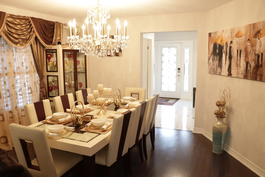 Dining Room: (2nd Floor) An elegant setting for 8 people.