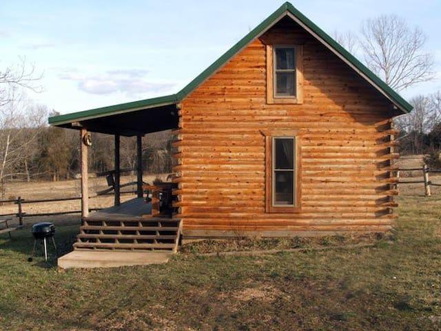 log cabin at meramec farm cabins for rent in bourbon