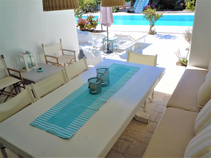 DREAM House Steps from Ornos Beach
