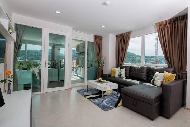 Amazing 7th Floor Apartment @Kata, beach - 900 m