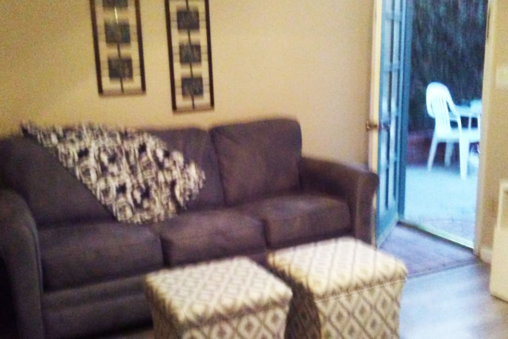 New couch opens to queen bed