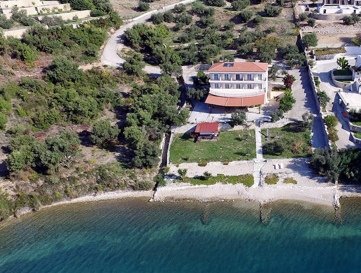Plataria Palace in Plataria - room for 2 people with panoramic sea view # ground floor