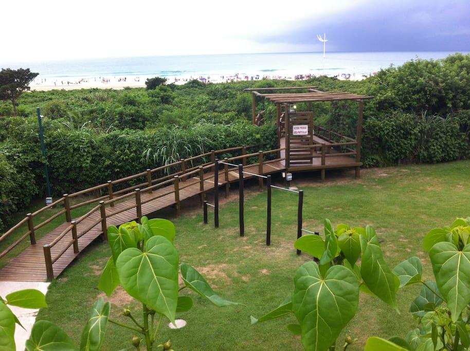 Caminho de acesso para praia