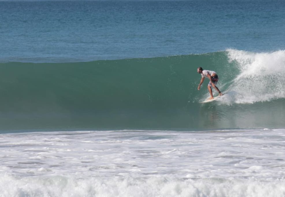 Great Surf all year around just 2 minutes walking distance