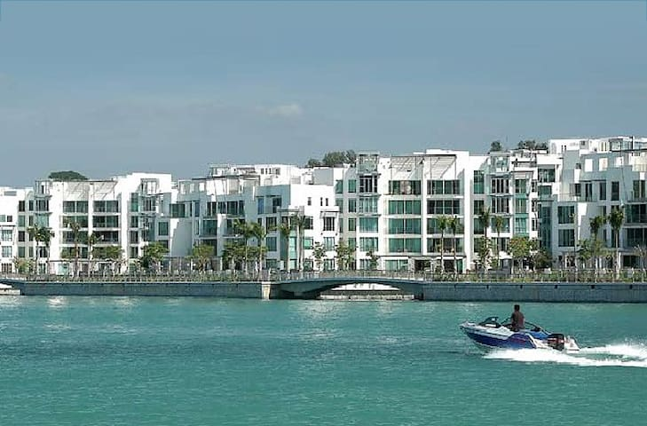 Beautiful ground floor water front apartment