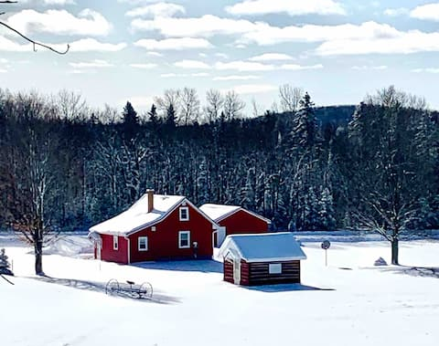 Our Finnish Farmhouse, ski, snowshoe, close to ABR
