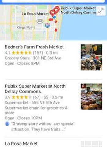 Plenty of supermarkets within 3 minutes away!