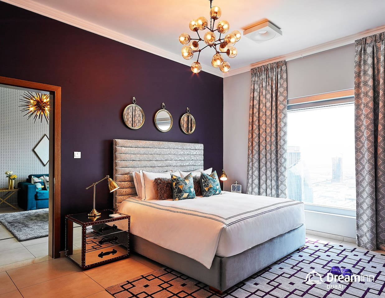 Masters Bedroom with City View