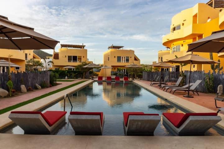 9A Poolside Private Patio Cerritos Beach Condo