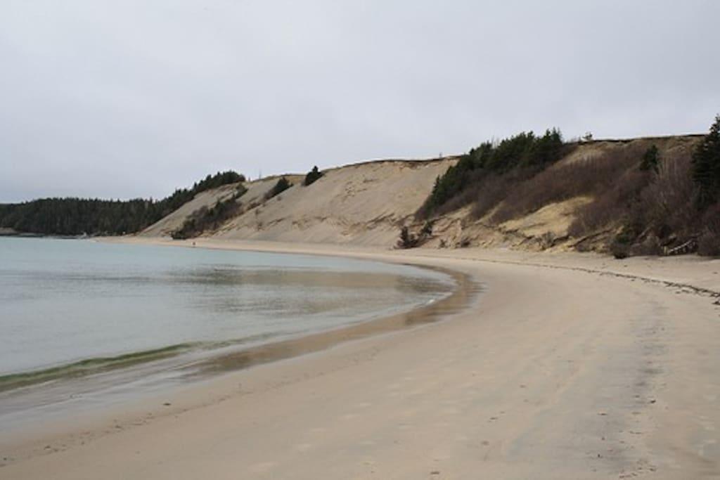 Sandy Cove Beach just one minute walk away.