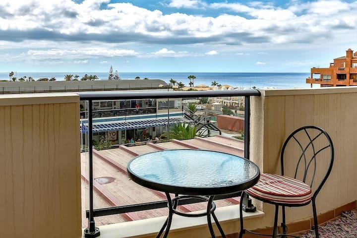 Palm Mar, sea-view, 4 pax, WiFi, 100m to the beach - Palm-Mar - Apartament