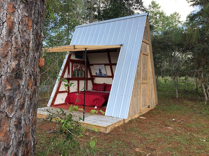 Aframe Cabin Tent At The  Olive Grove.