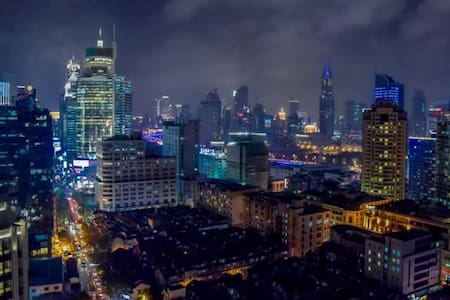 顶楼,两个阳台PENTHOUSE LOFT可以看到豫园和外滩, Yuyuan Garden Bund - Shanghai - Huoneisto