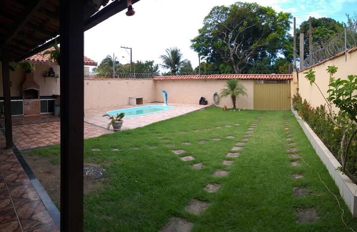 Casa com Piscina, wifi churrasqueira Santa Mônica