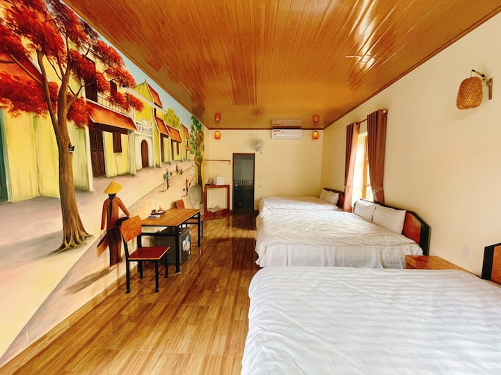 Cosiana Homestay - Family Room with Garden view