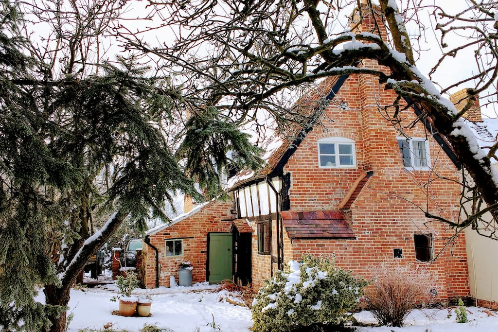 Back of the cottage, in winter
