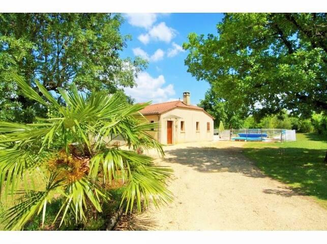 Villa Moncalou avec Piscine Chauffée - Florimont-Gaumier - Huis