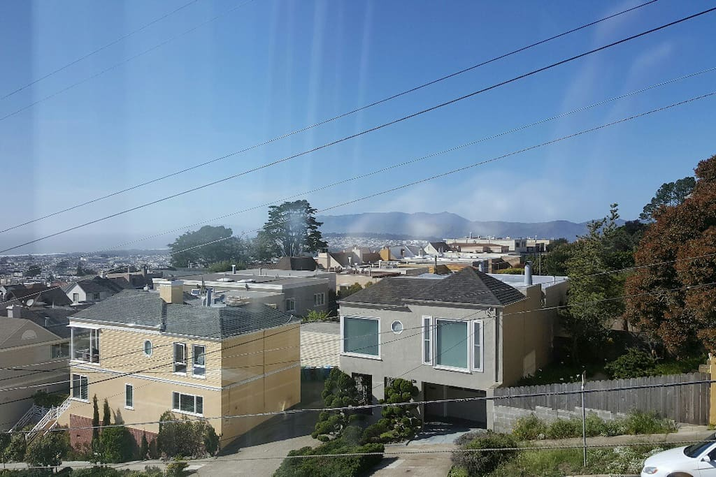 View from Living Room of the Marin Headlands to the North.