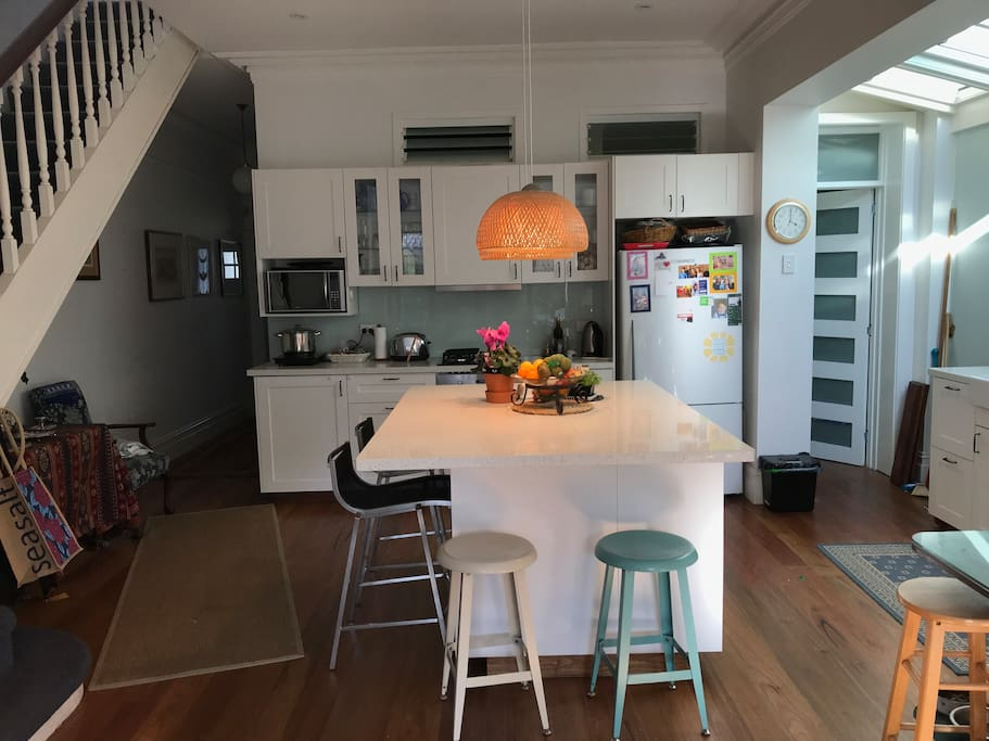 Large Kitchen and Island Bench