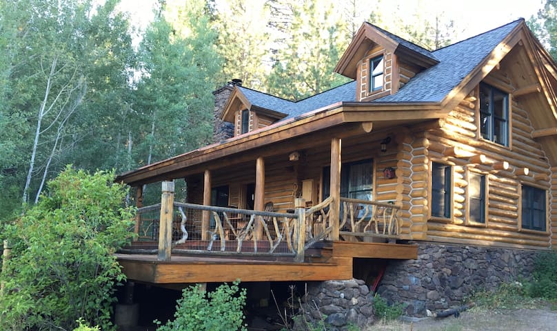Log cabin retreat on 5 acres - Markleeville - Mökki
