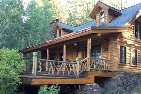 Log cabin retreat on 5 acres