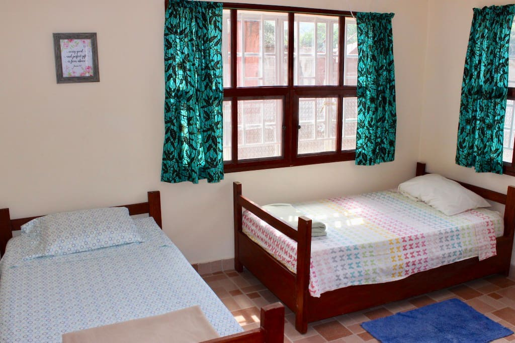 Double twin room, perfect for kids or guests
