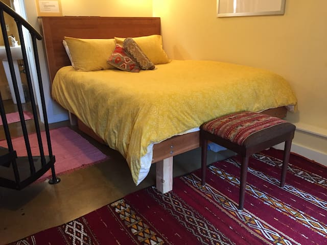 The main bedroom with queen bed