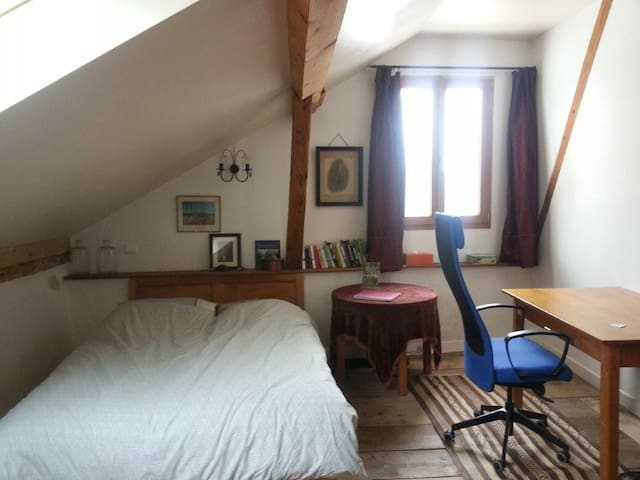 Room in 18th century property easy access Geneva