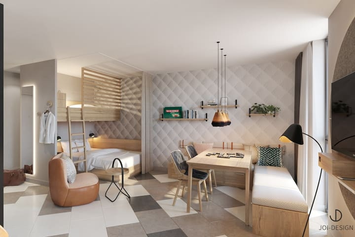 Stay KooooK Bern - Family Apartments with kitchen