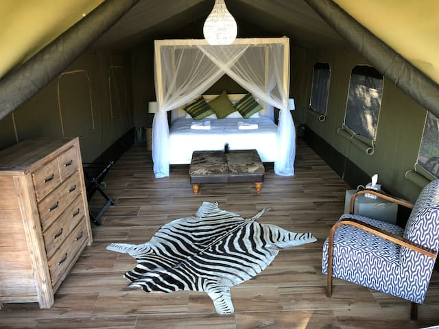 Luxury Tent Bedroom with King Bed