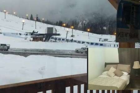 """Ski-in/Ski-out Full Bed room Summit West 4K 50"""" TV"""