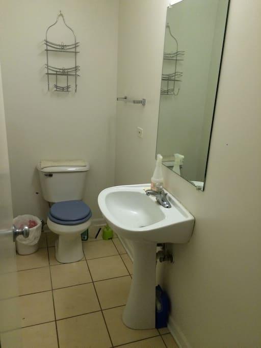 First floor half washroom
