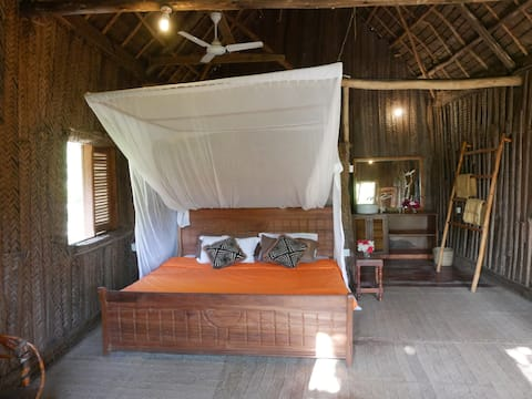 Bungalow traditionnel front de mer zanzibar