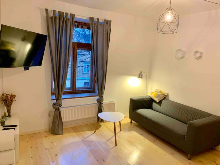Grīziņkalns cosy Apartment | Free parking