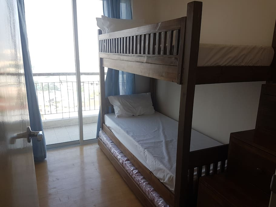 Bedroom 1 - bunk bed with pullout and balcony