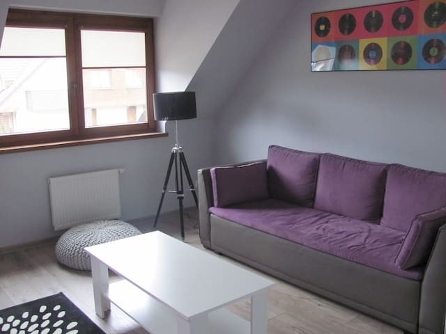 Spacious modern comfotable room - Wroclaw