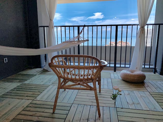 【gatsby盖兹比】保利金町湾海景公寓(吊床·阅读·音响·高速宽带·全角海景)