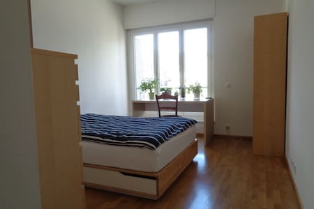 Bright room, 5 min from USI, center Lugano