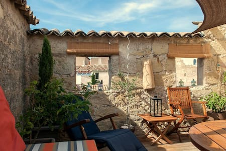 Stylish Stone House: with private Roof Terrace - Pézenas - 独立屋