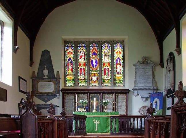 Interior of Kirkoswald church