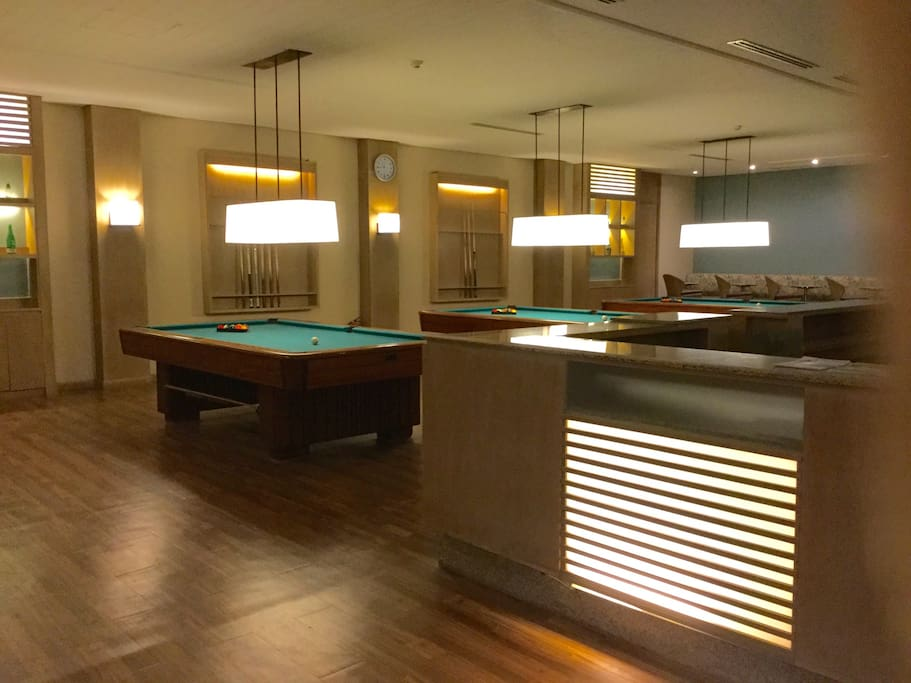 air-conditioned billiard hall