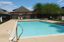 Swimming pool with grill area