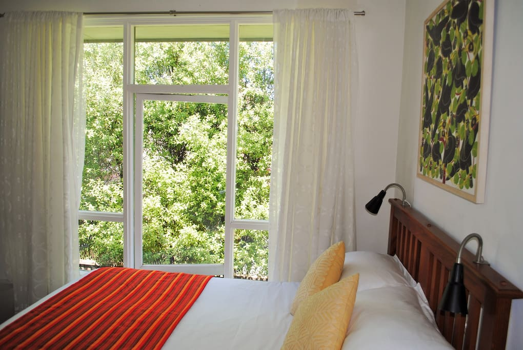 Your comfy double bed room w leafy outlook