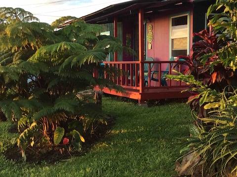 Kona Coffee Farm Home with Ocean & Mtn view.
