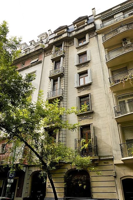 Building from late 1920s with French balcony