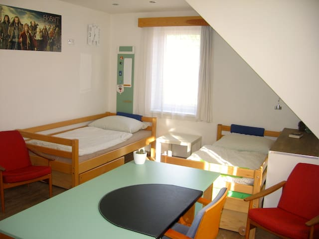 Room with a bathroom 35min from the Prague centre