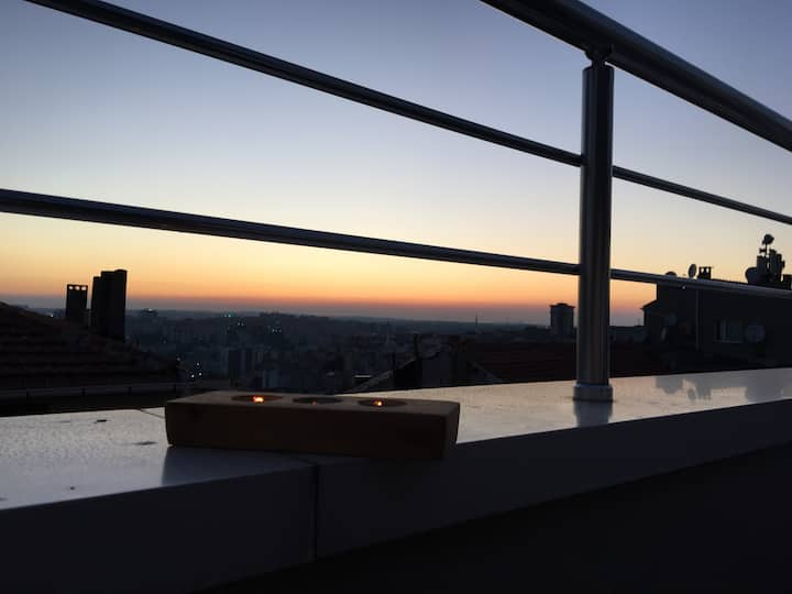 A home in 4th Levent with sunset view,only women