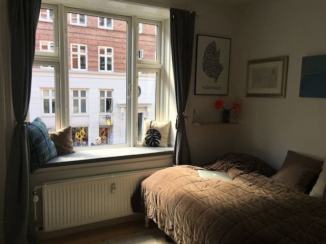 Great city apartment in hip Nørrebro